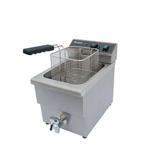 Blizzard Single Electric Fryer with tap